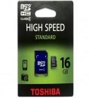 16 GIG SD Card Toshiba With Micro Adapter