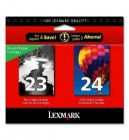 Lexmark 23 Black and Lexmark 24 Colour - 2 Pack