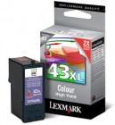 Lexmark 43XL colour ink cartridge original