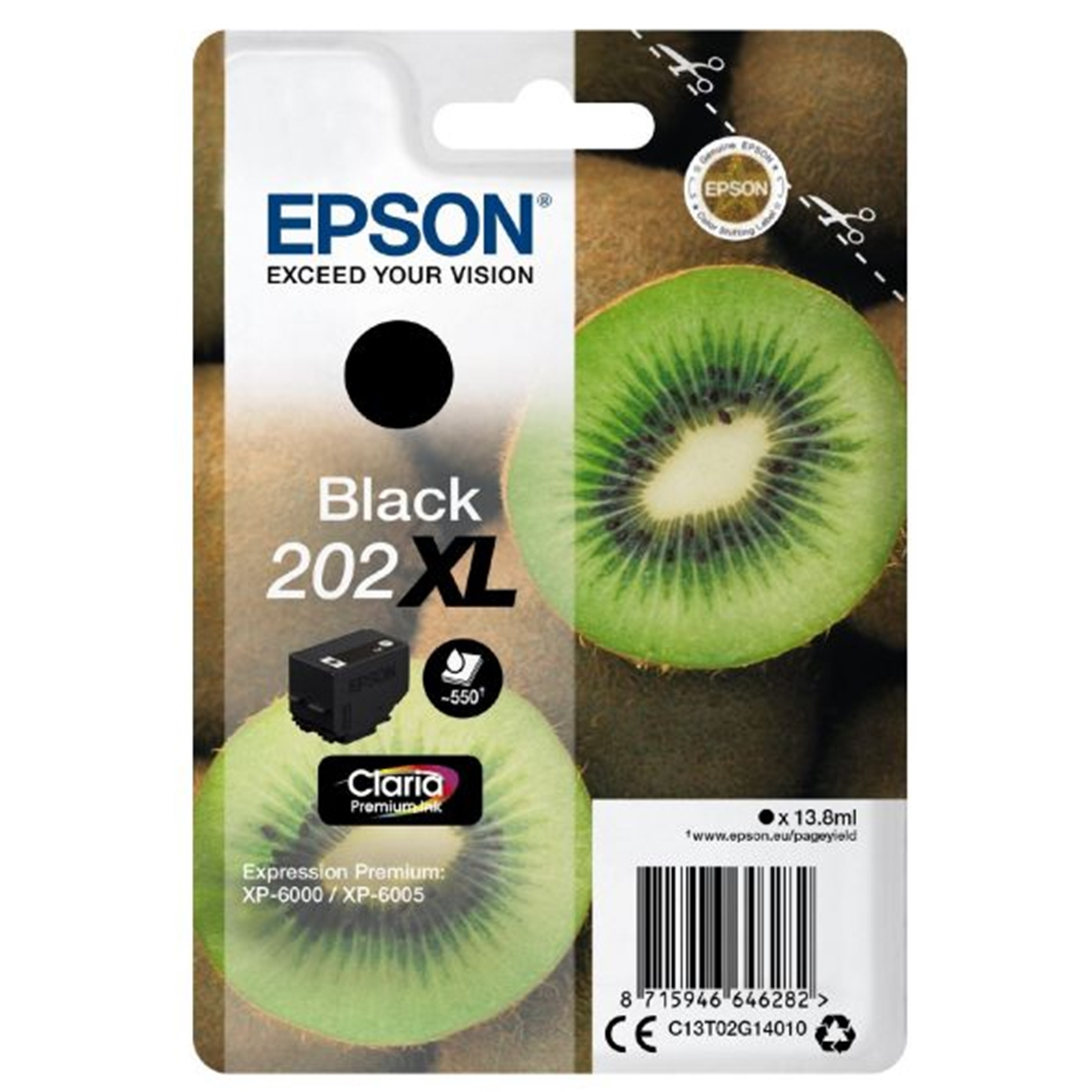 Epson 202XL photo black high-cap ink cartridge original