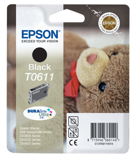 Epson 611 Black Ink Cartridge Original