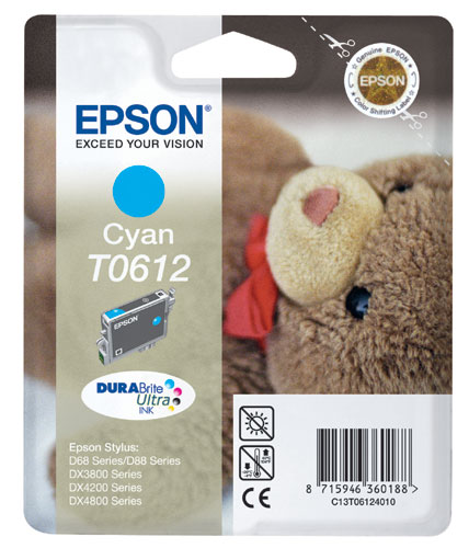 Epson 612 Cyan Ink Cartridge Original