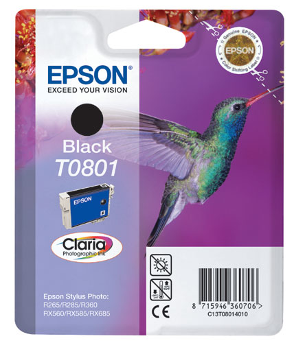 Epson 801 Black Ink Cartridge Original