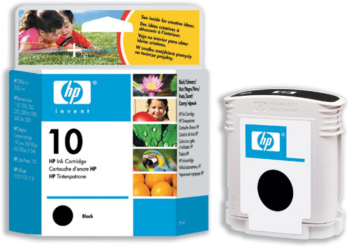 Hp 10 Black Ink Cartridge Original