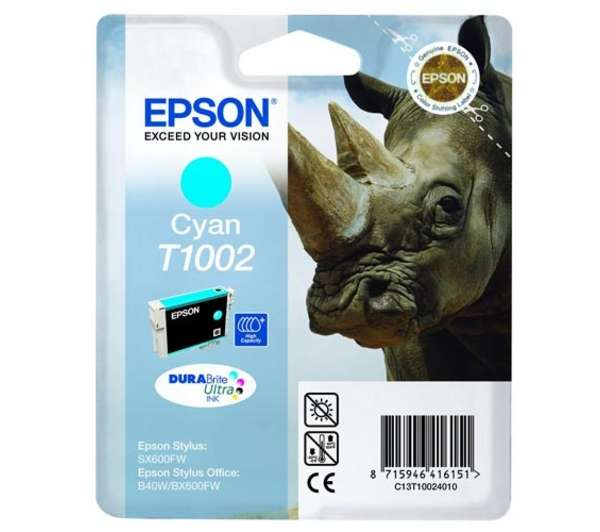 Epson 1002 Cyan Ink Cartridge Original