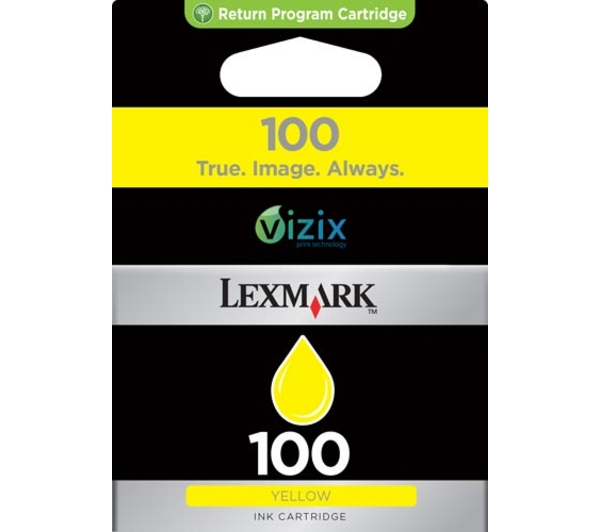 Lexmark 100 Yellow Ink Cartridge Original