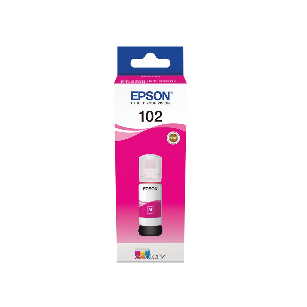 Epson 102 EcoTank Magenta Ink Bottle C13T03R340