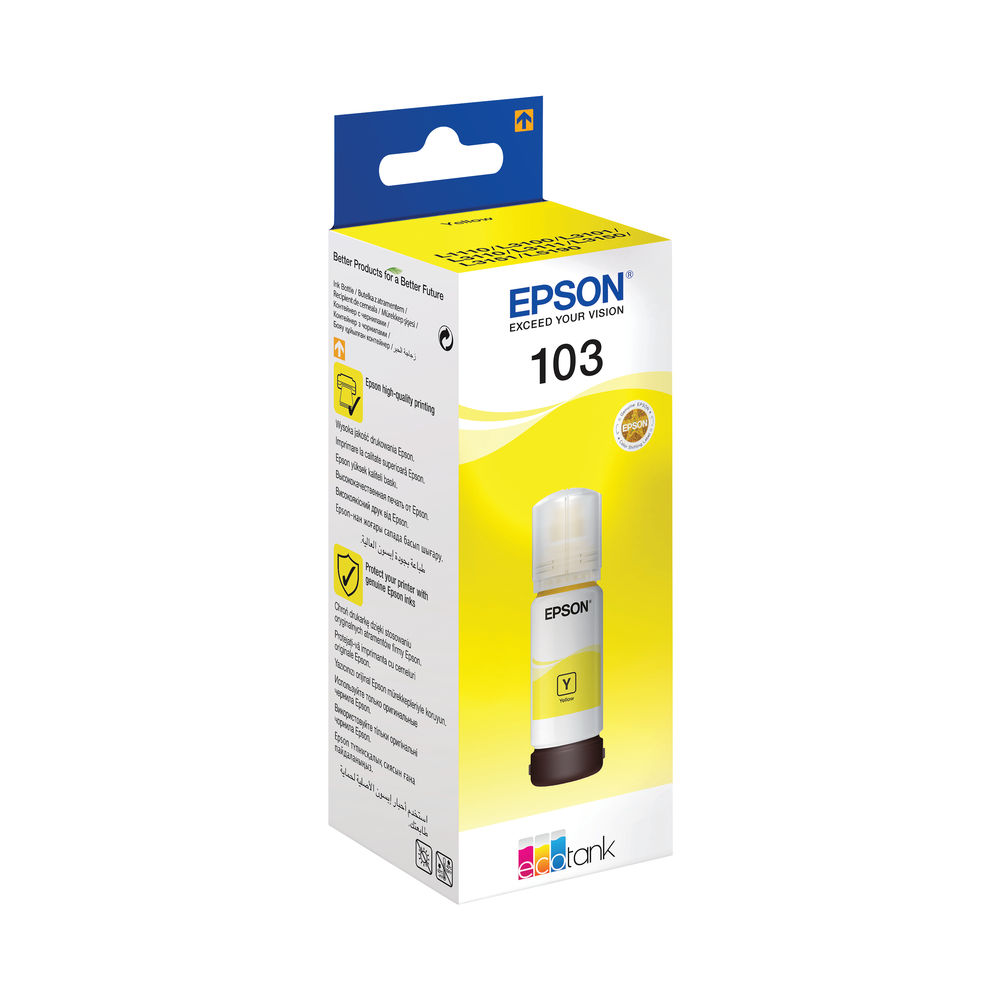 Epson 103 EcoTank Yellow Ink Bottle WE C13T00S44A10