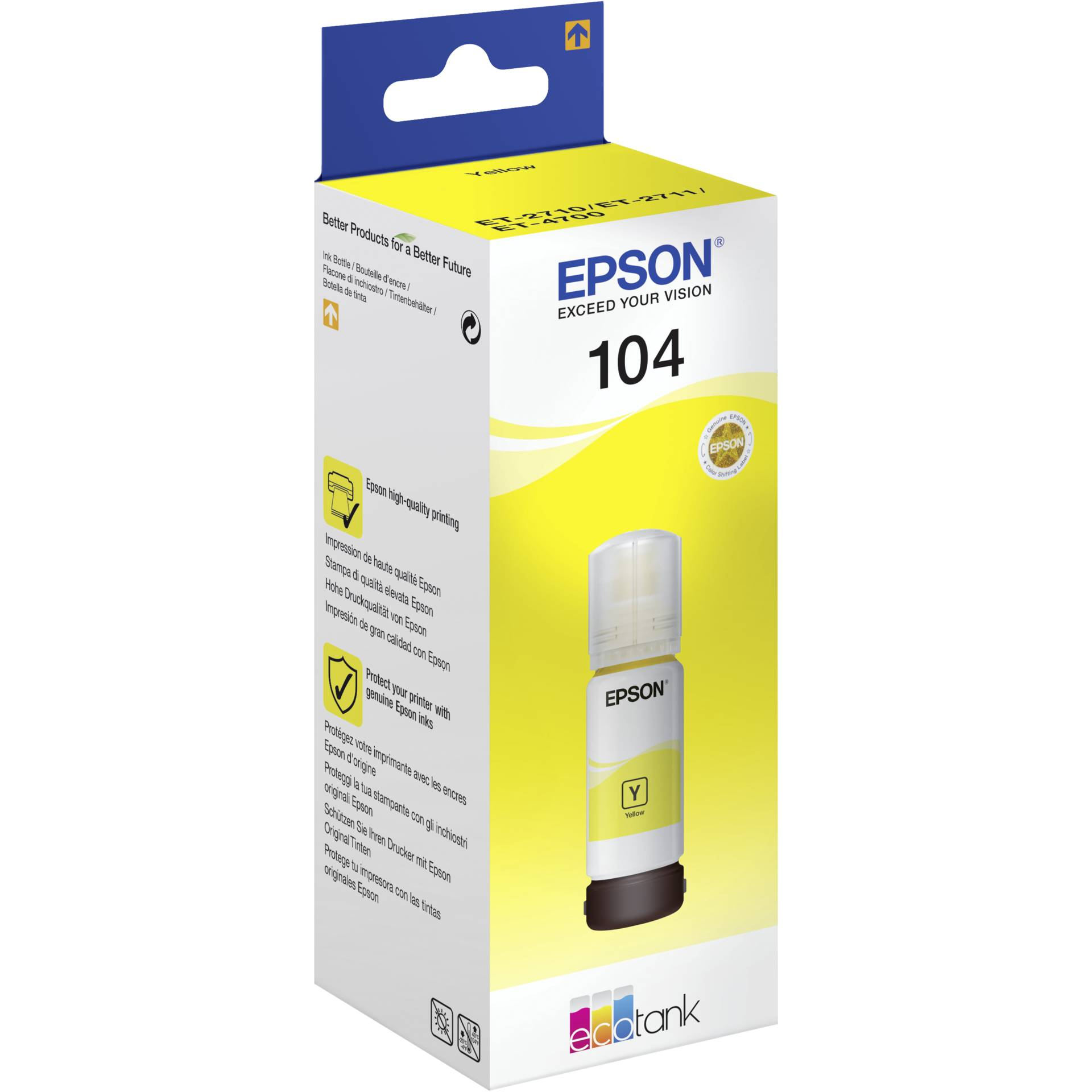 Epson 104 yellow ink tank original
