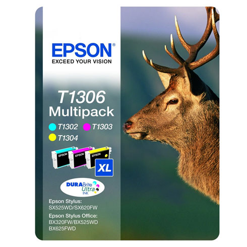 Epson T1306 CYM 3 Pack Original High Yield