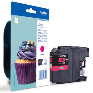 Brother LC-123M magenta ink cartridge ORIGINAL
