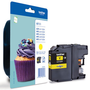 Brother LC-123Y yellow ink cartridge ORIGINAL