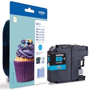 Brother LC-123C cyan ink cartridge ORIGINAL