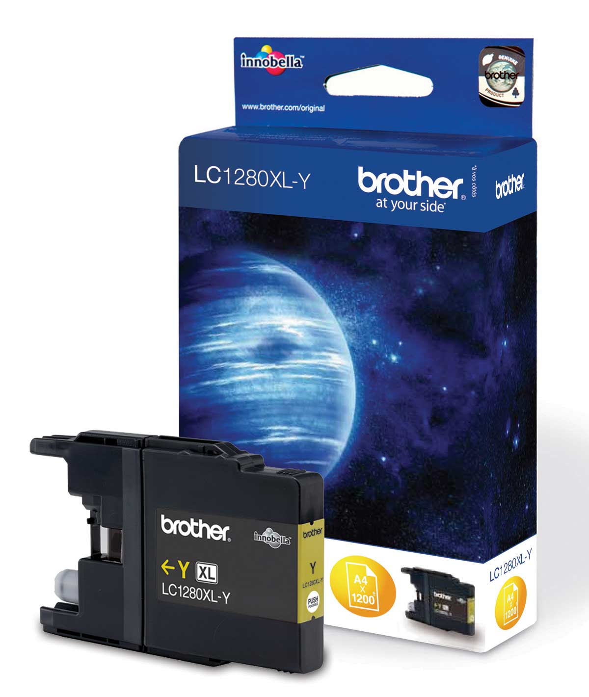Brother LC-1280 Yellow Ink Cartridge Original High Yield XL