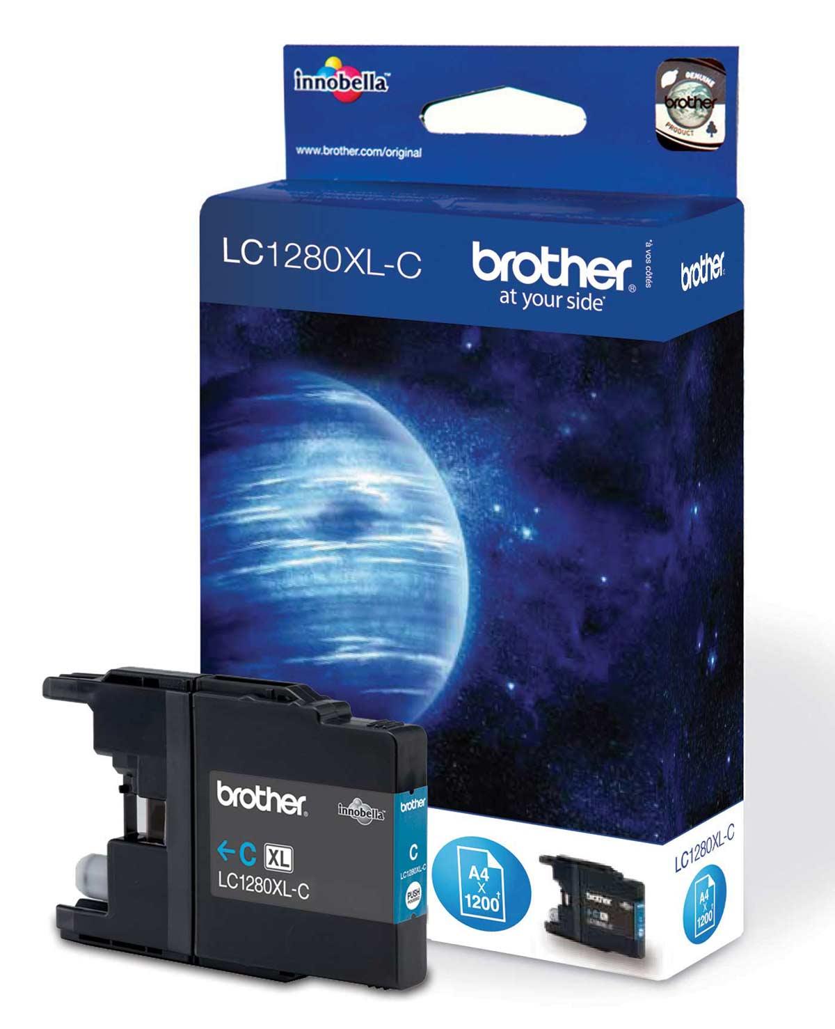 Brother LC-1280 Cyan Ink Cartridge Original High Yield XL