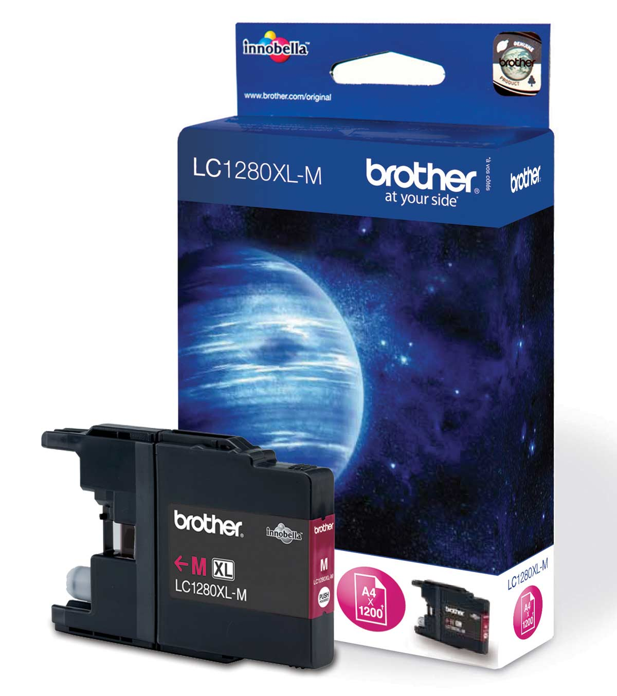 Brother LC-1280 Magenta Ink Cartridge Original High Yield