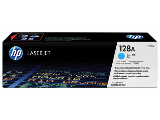 HP 128A cyan toner ORIGINAL - Hp CE321A Cyan Toner original