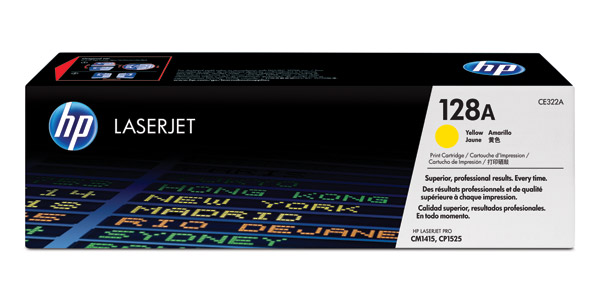HP 128A yellow toner ORIGINAL - HP CE322A Yellow Toner Original