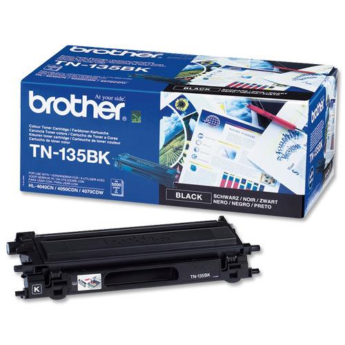 Brother TN-135BK Black Toner Original High Yield