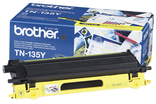 Brother TN-135Y Yellow Toner Original High Yield