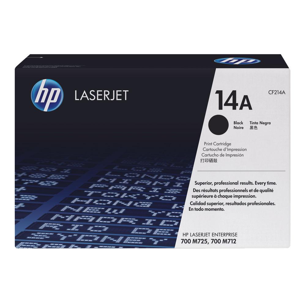 HP 14A Black Laserjet Toner Cartridge CF214A