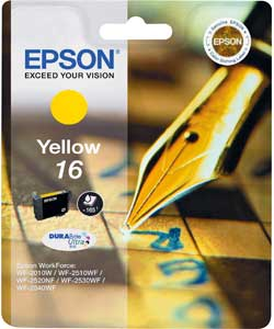 Epson 16 yellow ink cartridge ORIGINAL