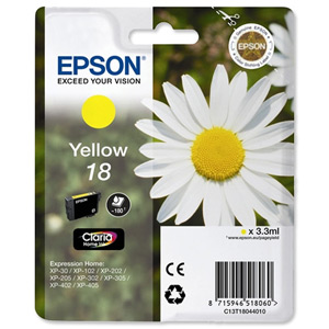 Epson T1804 Yellow Ink Cartridge Original