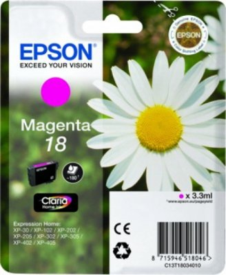 Epson T1803 Magenta Ink Cartridge Original