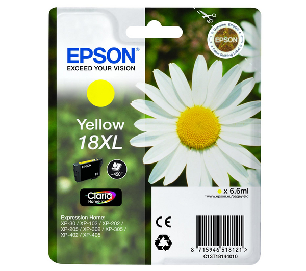 Epson T1814 Yellow Ink Cartridge High-Cap Original