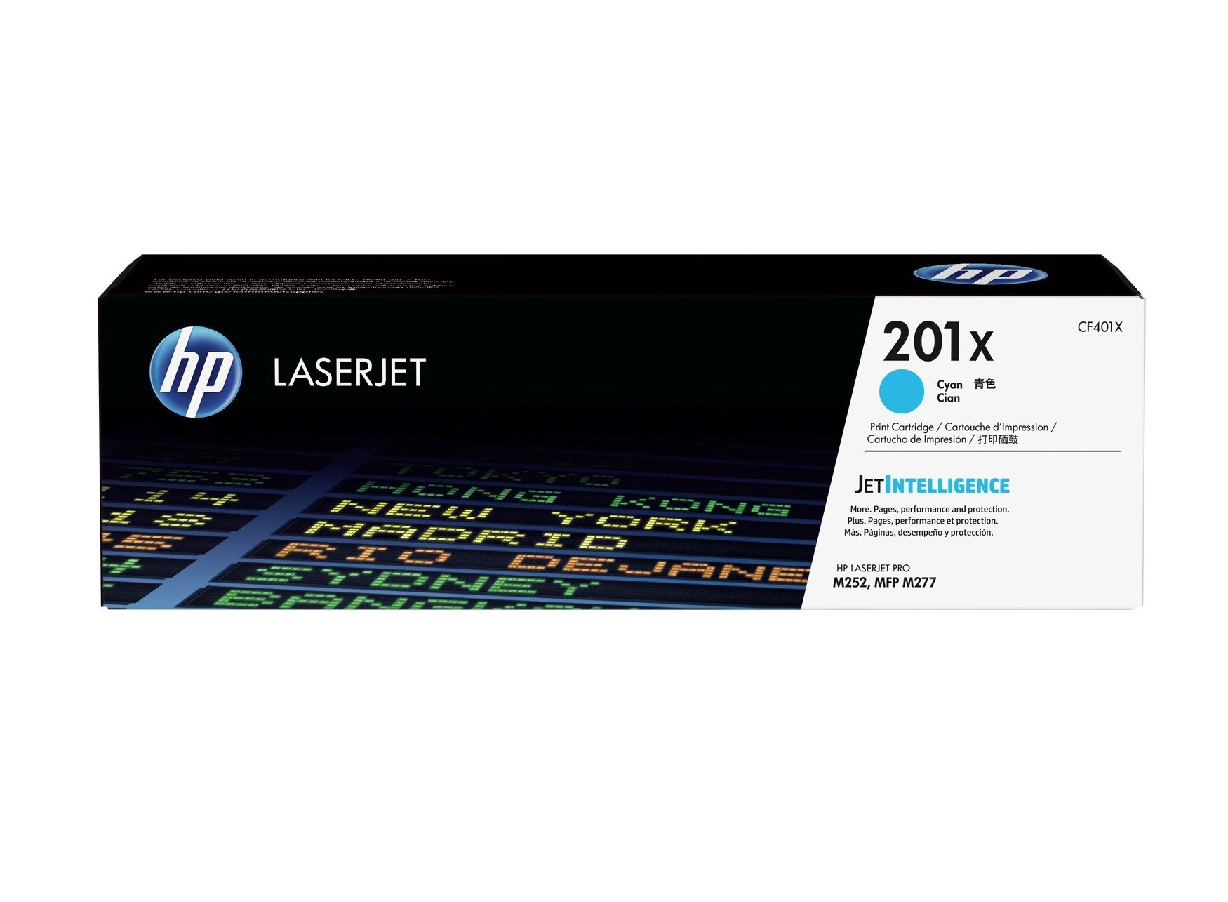 HP 201X CF401X high capacity cyan toner original HP