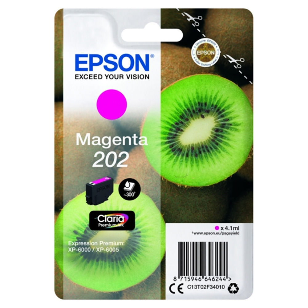Epson 202 magenta ink cartridge original