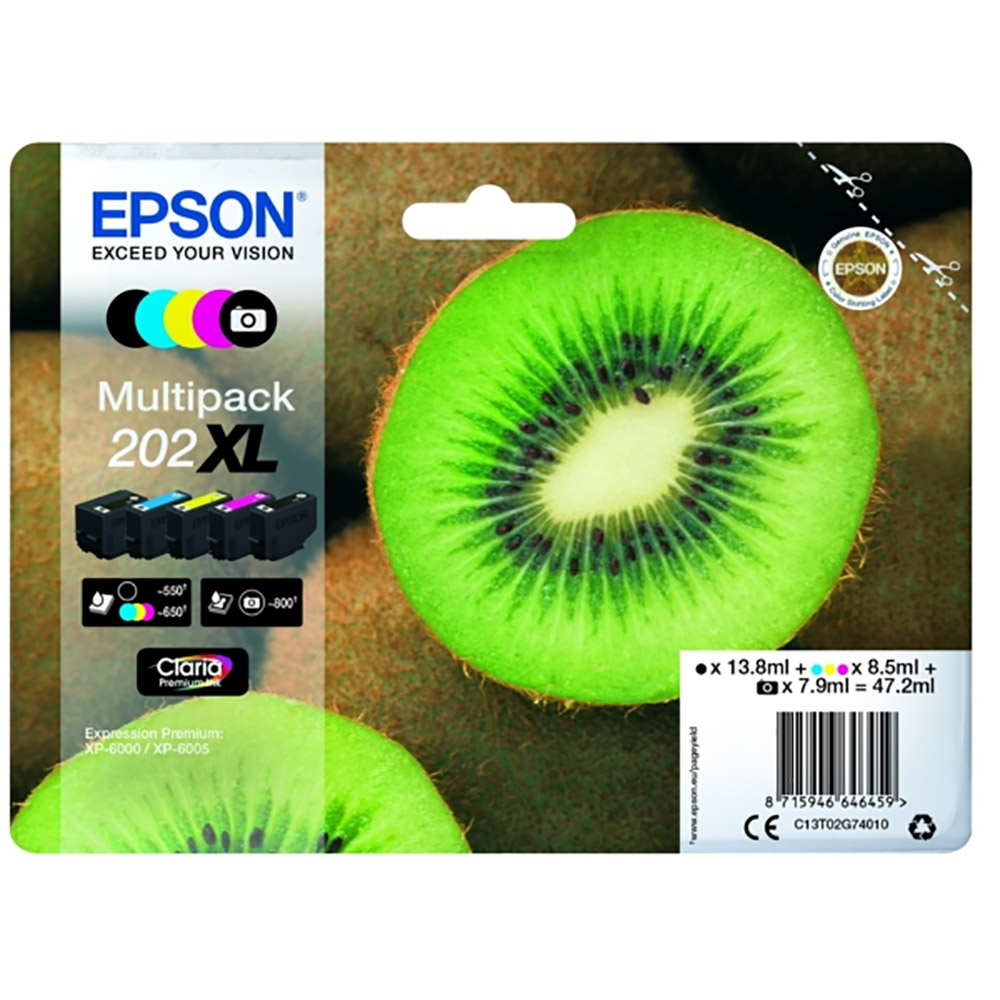 Epson 202xl Multi pack original High Cap 5 Pack