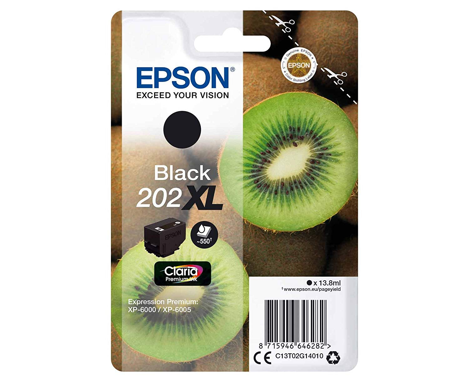 Epson 202XL black high-cap ink cartridge original