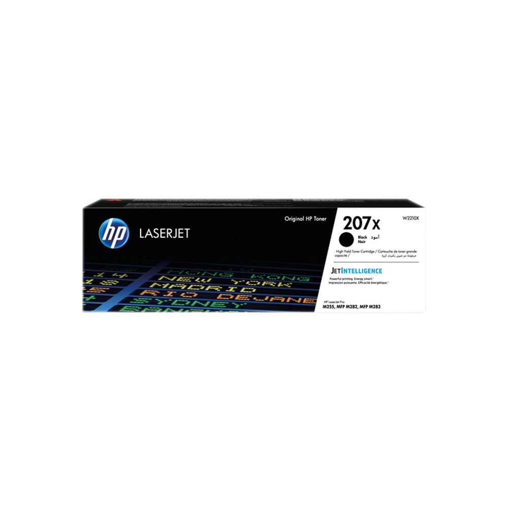 HP 207X LaserJet High Yield Toner Cartridge Black W2210X