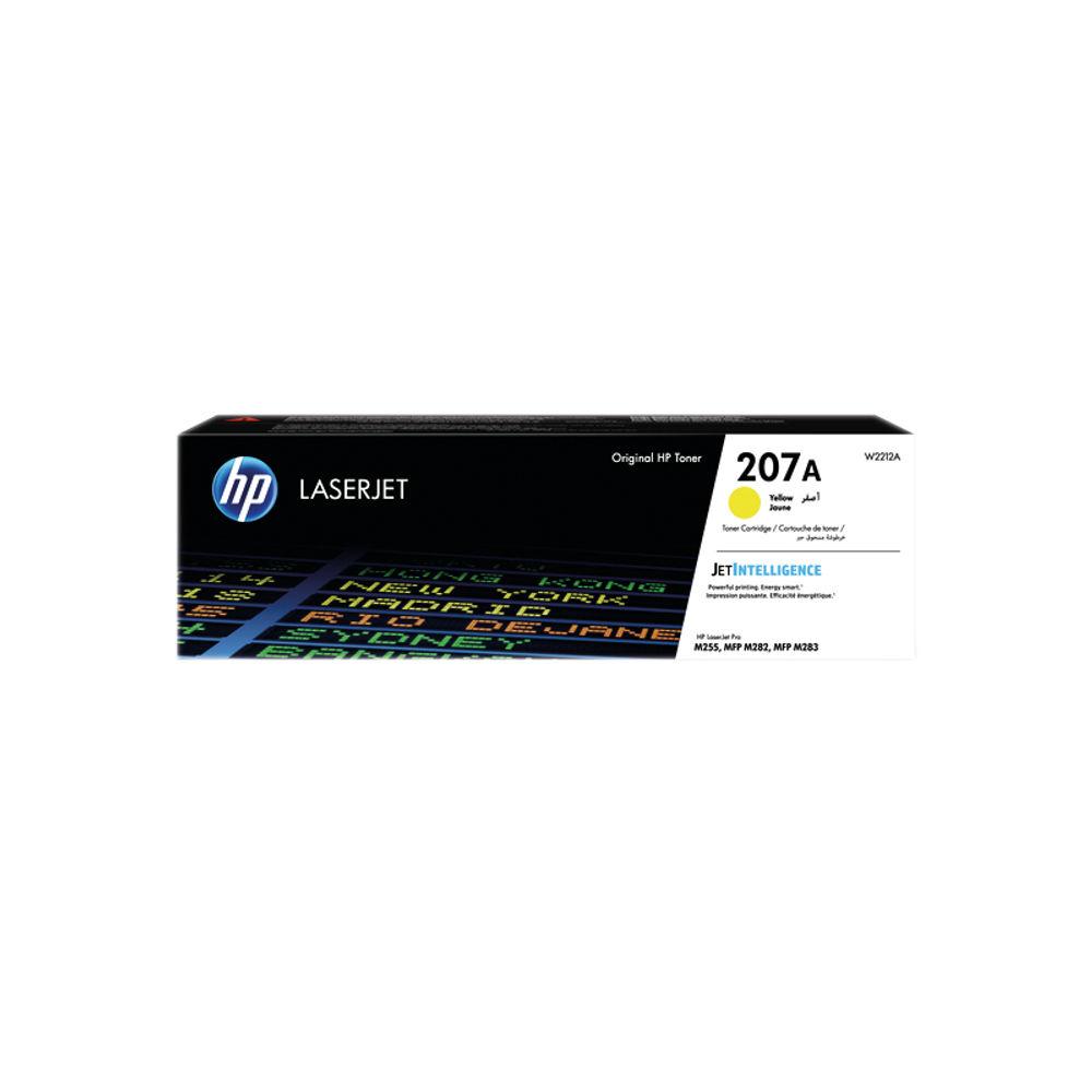 HP 207A LaserJet Toner Cartridge Yellow W2212A