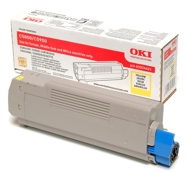 Oki 43324421 Yellow Toner Original