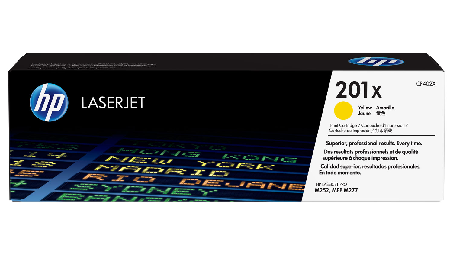 HP 201X CF402X high capacity yellow toner original HP
