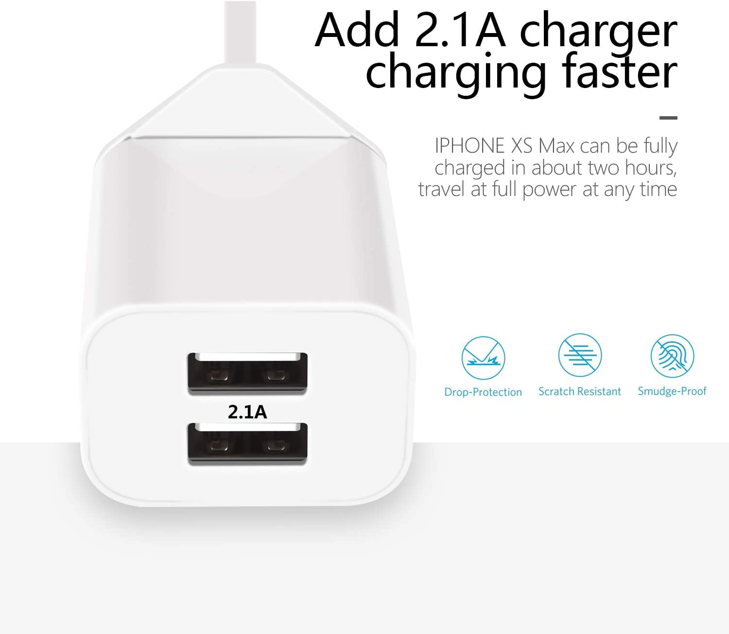 USB Plug Pack 2A Multi Port Wall Charger for Apple