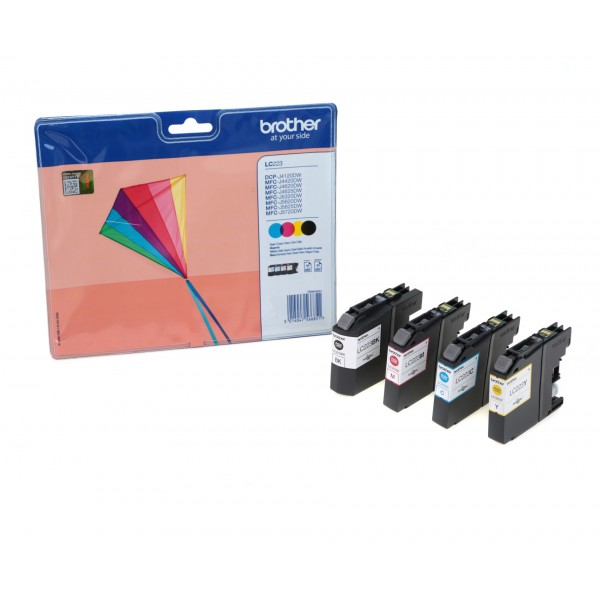 Brother Black Colour LC223 Inkjet Cartridge Value Pack