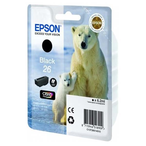 Epson 26 photo black ink cartridge ORIGINAL - Epson T2611 original
