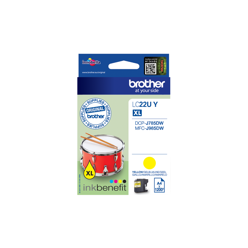 Brother LC-22UY XL yellow ink cartridge original