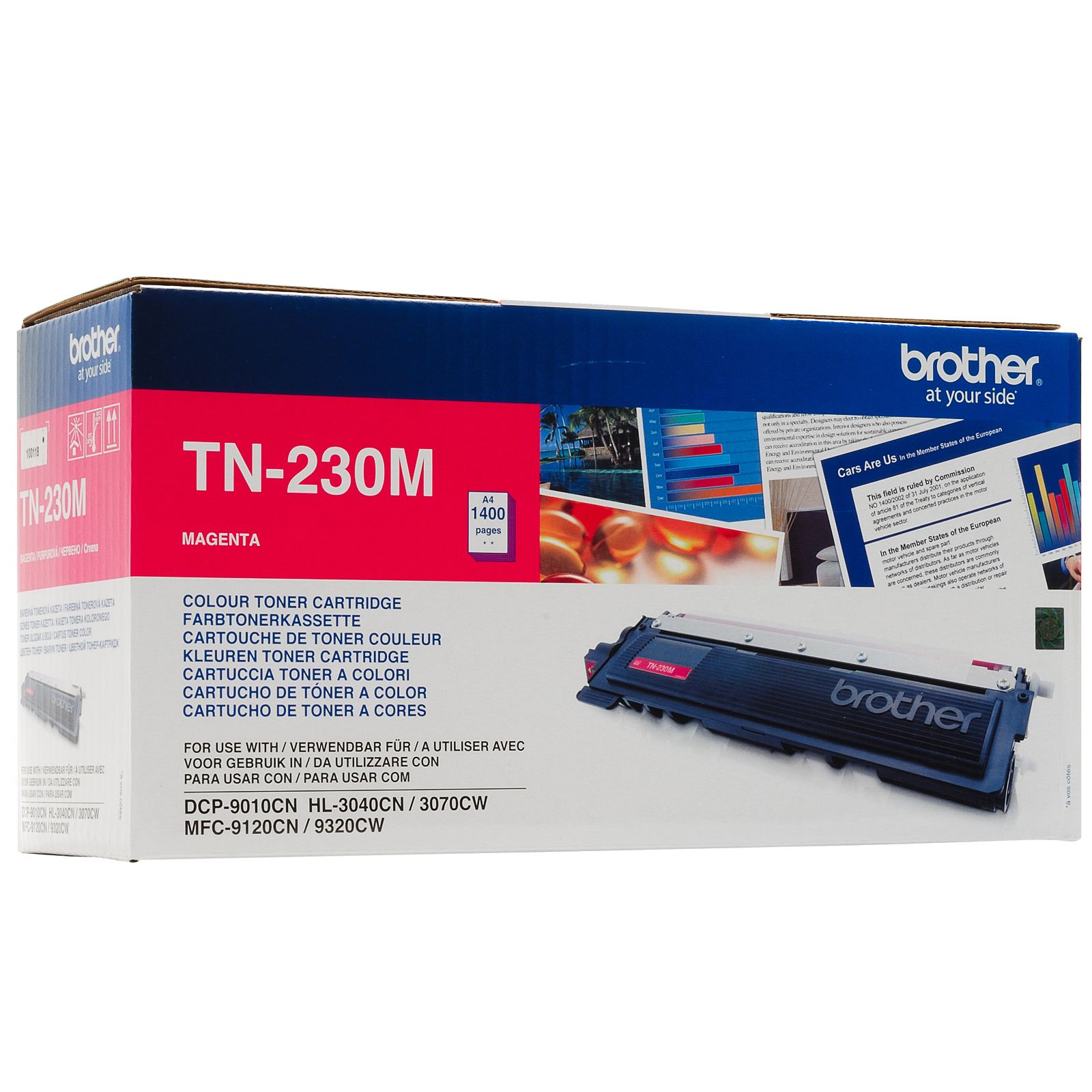 Brother TN-230 Magenta Toner Original 1400 Page Yield