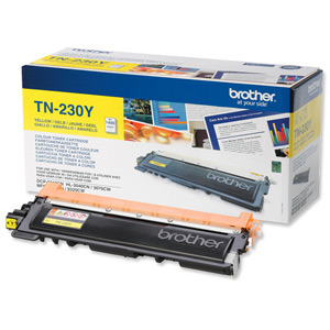 Brother TN-230 Yellow Toner Original 1400 Page Yield