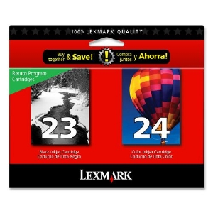 Lexmark 23 Black and Lexmark 24 Colour - 2 Pack