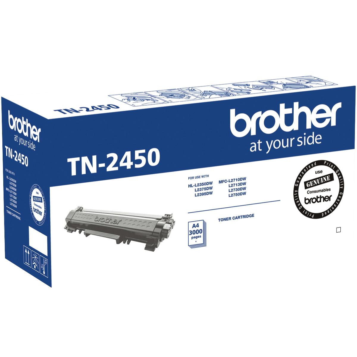 Brother TN-2450 Black Toner High Cap