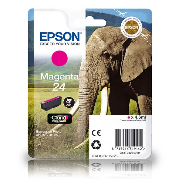 Epson 24 magenta ink cartridge original