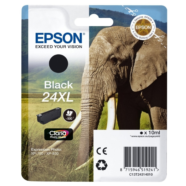 Epson 24XL high capacity black ink cartridge original