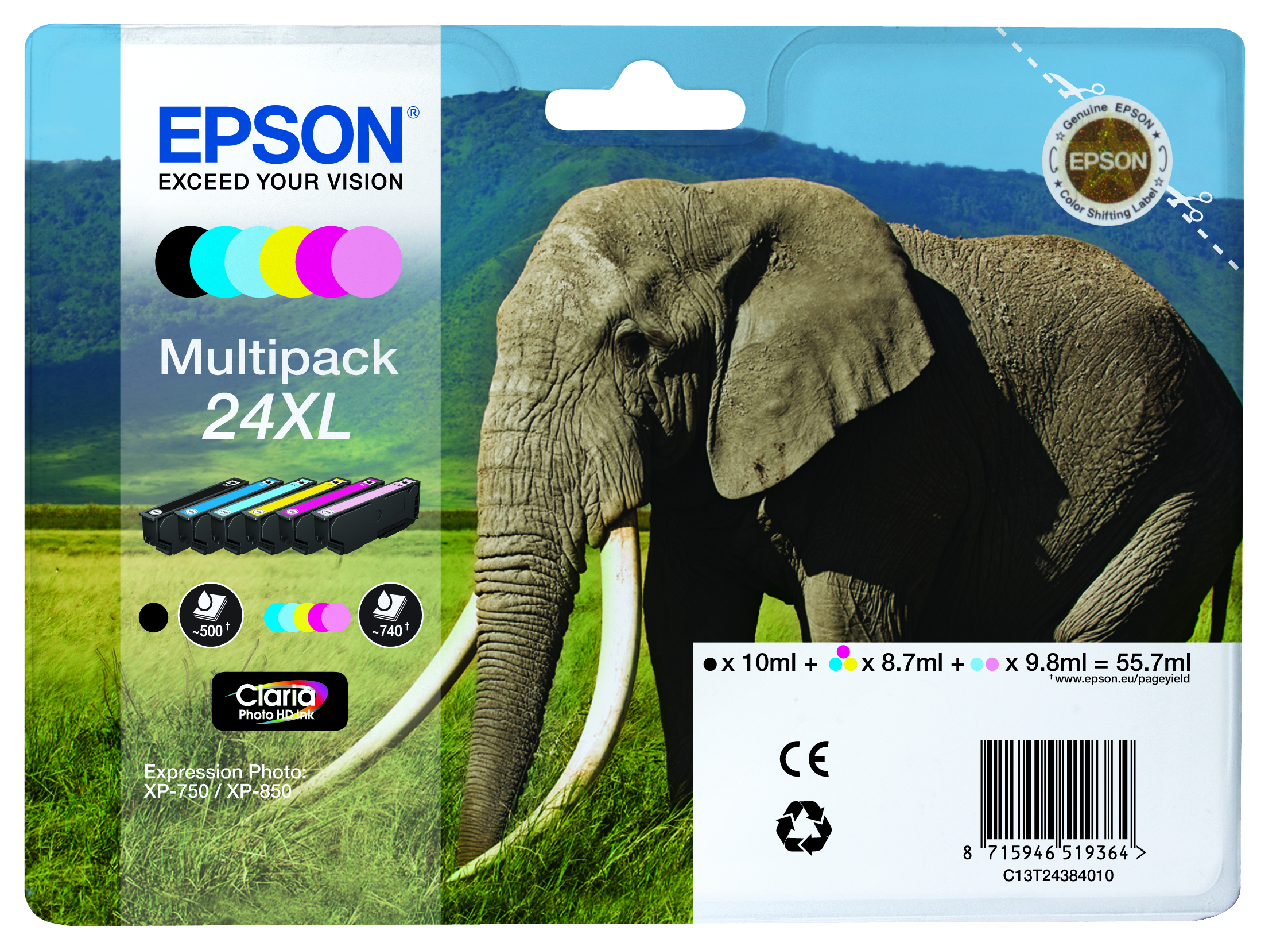Epson 24XL high capacity multipack original 6 Pack