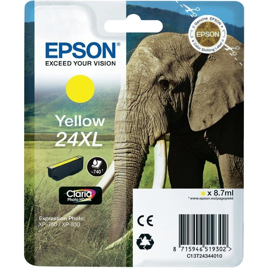 Epson 24XL high capacity yellow ink cartridge original