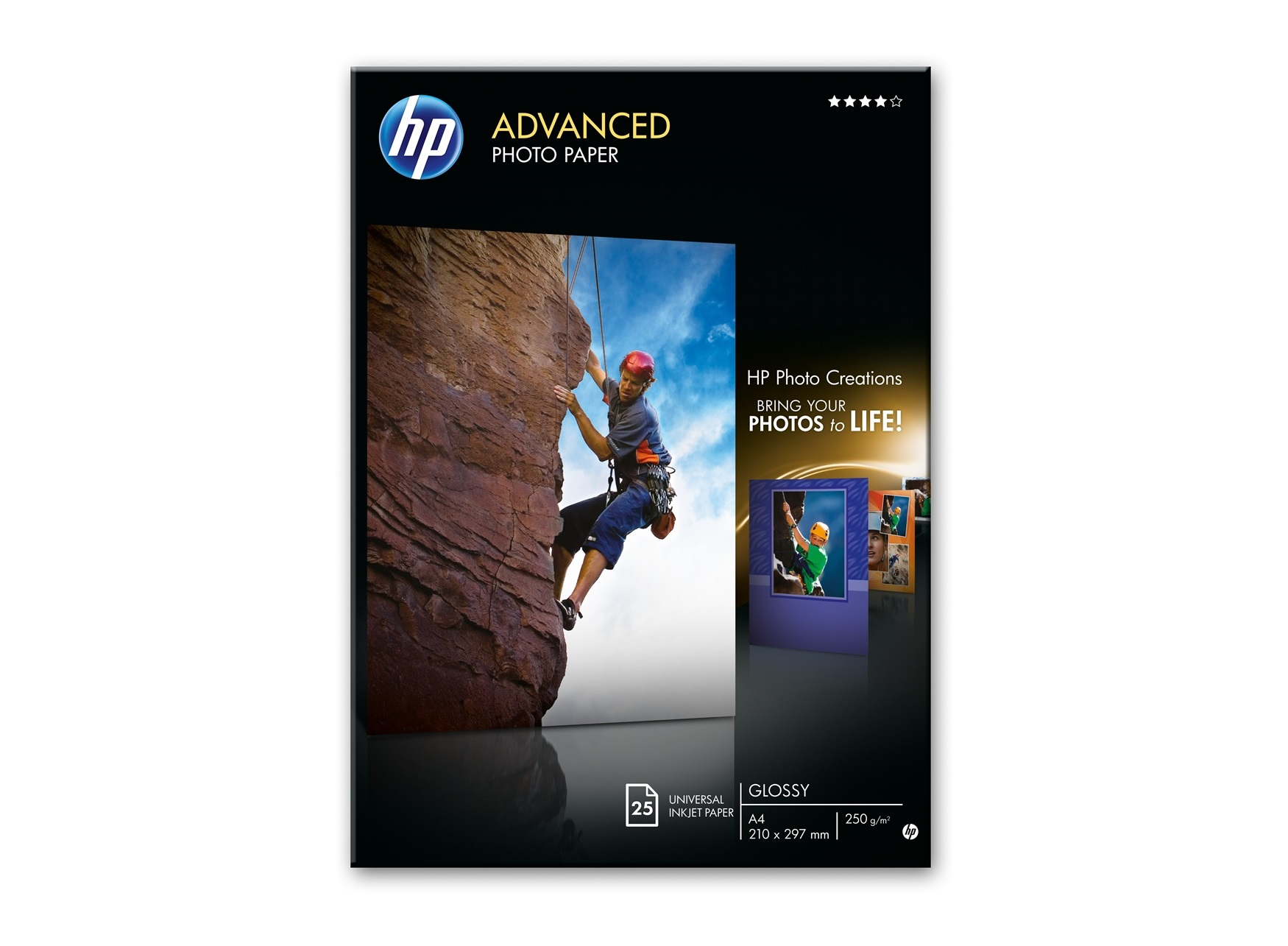 HP Photo Paper 25 Pack A4 250GM 210x 297M Glossy